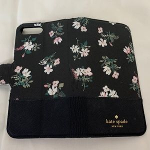 Kate Spade Black/Floral iPhone 8 Plus Folio Case